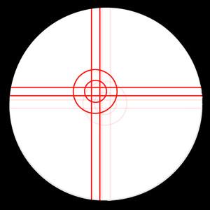 Omegon Oculare con reticolo Plössl 9 mm, illuminato