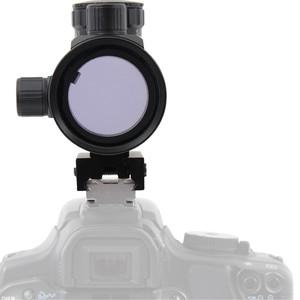 Omegon cercatore red dot con adattatore slitta flash per fotocamere DSLR