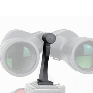 Omegon Adaptador metálico de trípode para prismáticos.