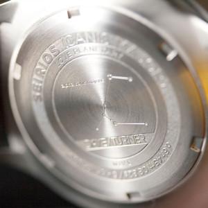DayeTurner SEIRIOS Orologio da uomo analogico argento - cinturino pelle nera