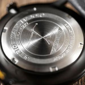 DayeTurner Reloj de caballero analógico SEIRIOS, negro - cuero negro