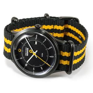 DayeTurner SEIRIOS Orologio da uomo analogico nero - cinturino nylon giallo/nero