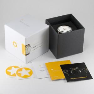 DayeTurner SEIRIOS men's black analogue watch - nylon black/yellow strap