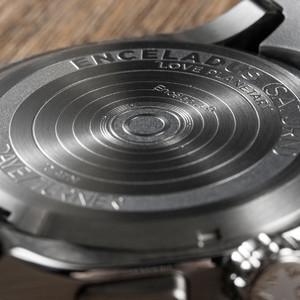 DayeTurner ENCELADUS Orologio da uomo analogico argento - cinturino in pelle marrone scuro
