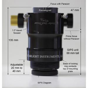Porte-oculaire Starlight Instruments Porte oculaire Feather Touch FTF2015BCR LW avec le système Paracorr (SIPS) correcteur de coma