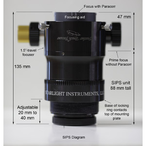 Starlight Instruments Feather Touch FTF2015BCR Lightweight focuser with integrated Paracorr System (SIPS) Coma Corrector