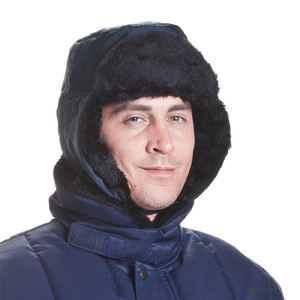 ColdTex cold-protection fur hat, with earflaps, size L