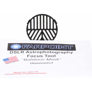 Farpoint Bahtinov snap-in focus mask for DSLRs with 62mm filter diameter