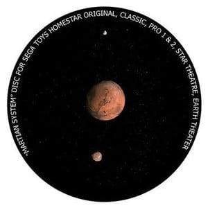 Redmark Dia für das Sega Homestar Planetarium Mars mit Monde