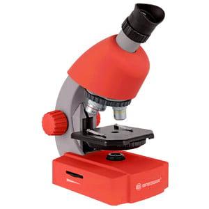 Bresser Junior Microscopio 40x-640x, rojo