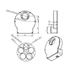 """ZWO Rueda de filtros motorizada EFWmini, 5x 1,25"""""""