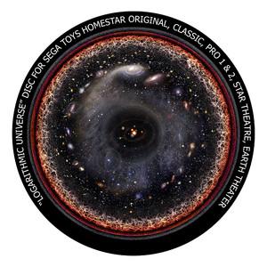 Redmark Diapositiva para planetario Sega Homestar Pro, historia del Universo
