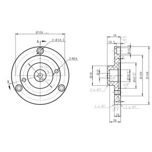 iOptron Adattatore Tri-Pier per Skywatcher, Celestron e Orion
