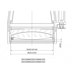 APM Binocolo MS 25x100