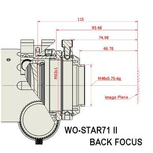 William Optics Refraktor apochromatyczny  AP 71/350 WO-Star 71 Blue OTA