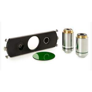 Euromex Set contrasto di fase IS.9163, con obiettivi PLPH IOS 20x e S100x e slitte