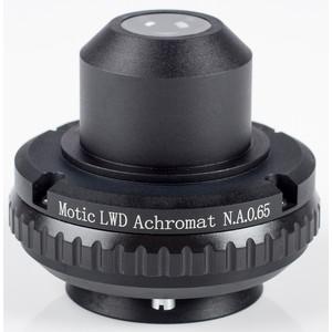 Motic Condensatore, N.A. 0.65, wd 10,8 mm, LWD, acromatico, diaframma iride (BA410E, BA310)
