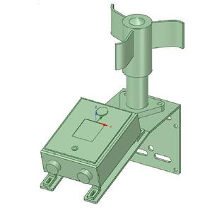 Lunatico Supporto per il montaggio di sensori meteo e anemometri
