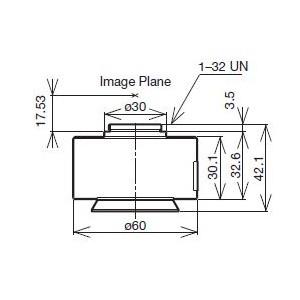Olympus Adattore Fotocamera U-TV0.5XC-3-8 C-Mount adattatore camera