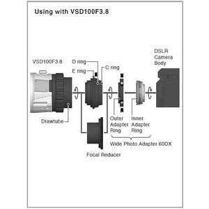 Vixen Adattatore 60DX compatibile con Canon EOS