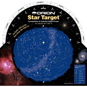 Orion Sternkarte Star Target Planisphere 40-60 degree north