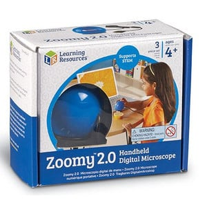Learning Resources Microscopio de mano digital Zoomy 2.0 (azul)
