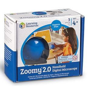 Learning Resources Zoomy 2.0 Digitales Handmikroskop (blau)