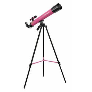 Bresser Junior Telescopio 50/600 AZ rosa