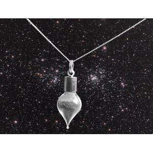 Jurassic Jewellery Meteoritenstaub-Kette (Tropfenform)