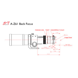 William Optics Rifrattore Apocromatico AP 61/360 ZenithStar 61 Red OTA