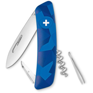 SWIZA C01 Swiss Army Knife, LIVOR Camo Urban Blue