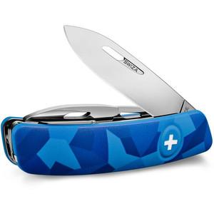 SWIZA Couteau de poche suisse C03 LIVOR Camo Urban bleu