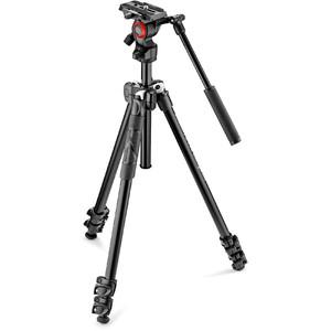Manfrotto Aluminium-Dreibeinstativ MK290LTA3-V mit Befree Live Videoneiger