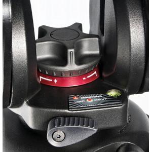 Manfrotto Treppiede Carbonio 504HD,535K con testa video e base livellante