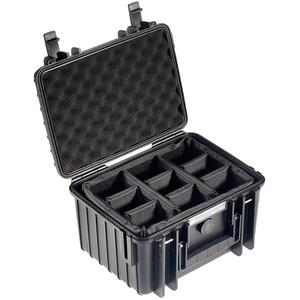 B+W Type 2000 case, black/compartment divisions