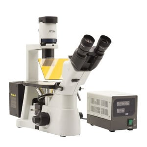Optika Microscopio Mikroskop IM-3FL4-UKIV, trino, invers, FL-HBO, B&G Filter, IOS LWD U-PLAN F, 100x-400x, UK, IVD