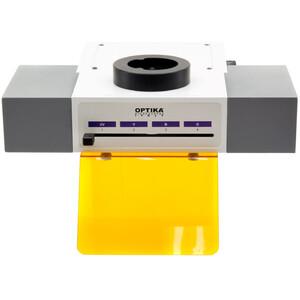 Optika innesto fluorescenza M-1031, 4 posizioni, LED, filtri blu, verde (FITC & TRITC)