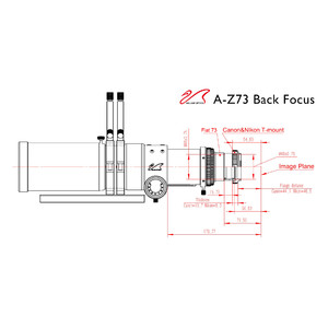 William Optics Apochromatic refractor AP 73/430 Super ZenithStar 73 Gold OTA