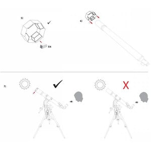 Explore Scientific Filtros solares Filtro solar Sun Catcher para telescopios de 60-80 mm