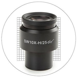 Euromex 10x/25 mm SWF, griglia misurazione 20x20, Ø 30 mm, DX.6010-SG (Delphi-X)