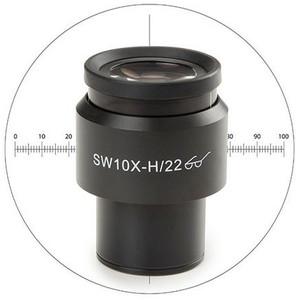 Euromex 10x/22 mm, micrometro, mirino, Ø 30 mm, DX.6210-CM (Delphi-X)