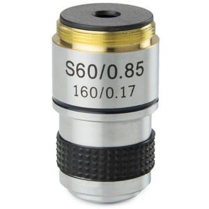 Euromex MB.7060 60X/0.85 achro, sprung, parafocal 35mm microscope objective (for MicroBlue