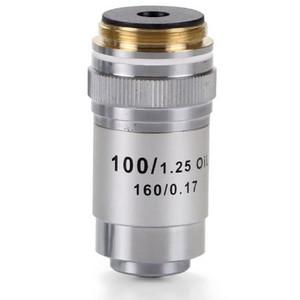 Euromex Obiettivo 100x/1,25 acromatico, DIN, a molla, immersione a olio, EC.7000 (EcoBlue)