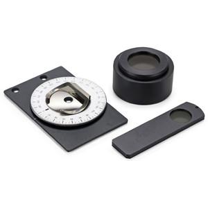 Euromex kit polarizzazione, analizzatore a slitta, tavolino girevole piccolo, AE.5155-P (EcoBlue, BioBlue)