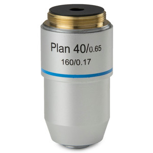Euromex Obiettivo 40x/0,65 plan, a molla, DIN, BB.8840 (BioBlue.lab)