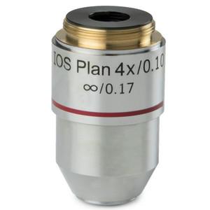 Euromex Obiettivo 4x/0,10 plan, corretto all'infinito, BB.7204 (BioBlue.lab)