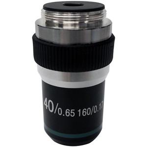 Optika M-141 40X/0.65, high contrast microscope objective