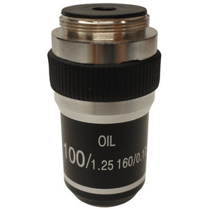 "Optika 100X/1.25"" (oil-immersion), high contrast microscope objective, M-143"