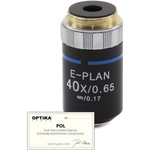 Optika Objective 40x/0.65, infinity, N-plan, POL,  ( B-383POL), M-147P