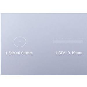 Bresser vetrini portaoggetti con scala micrometrica 1/10 & 1/100 mm